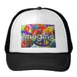 """Imagine"" Psychadelic 70's Gifts Hats"
