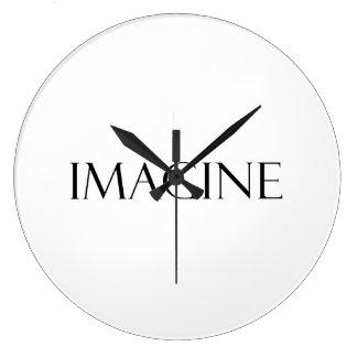 Imagine Quotes Inspirational Imagination Quote Clocks