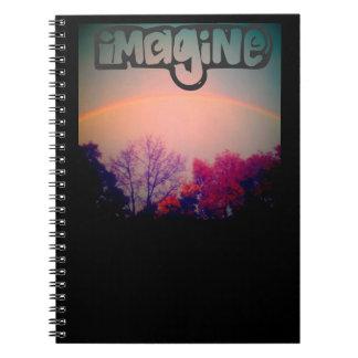 Imagine rainbow notebook