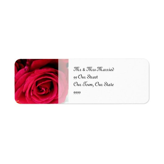 imagine Roses Wedding Return Address Label