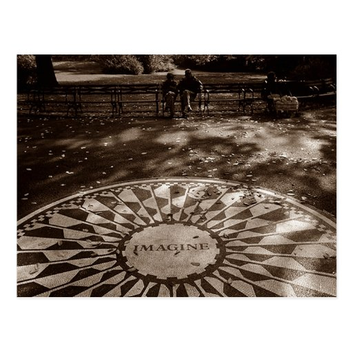 Imagine Strawberry Fields Tribute Central Park NYC Post Cards