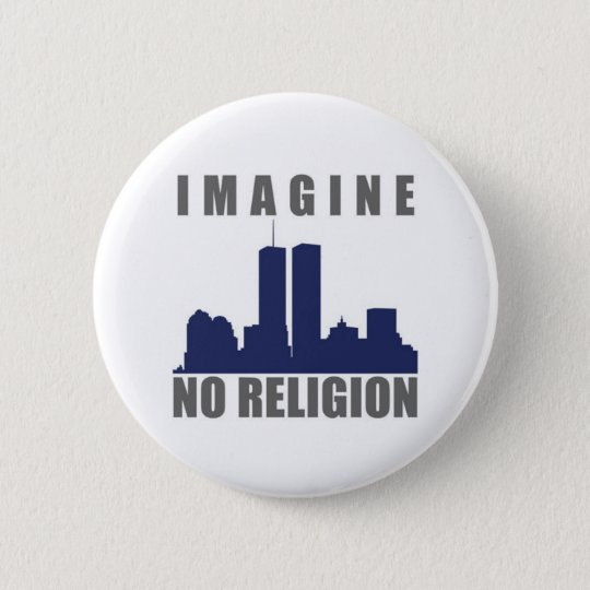 Imagine Twin Towers sillouette 6 Cm Round Badge