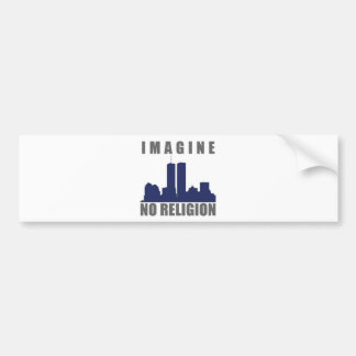 Imagine Twin Towers sillouette Bumper Sticker
