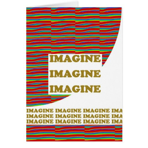 IMAGINE : Wisdom  Motivation Inspiration LOWPRICE Greeting Card