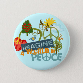 Imagine World Peace 6 Cm Round Badge