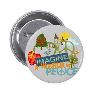 Imagine World Peace 6 Cm Round Badge
