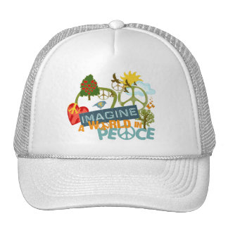Imagine World Peace Mesh Hat