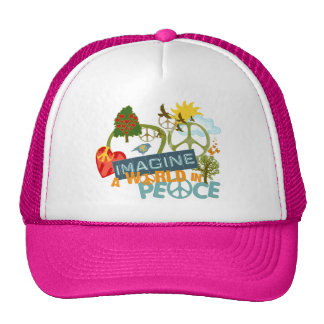 Imagine World Peace Trucker Hats