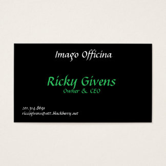 Imago Officina, Ricky Givens, Owner & CEO, 201....