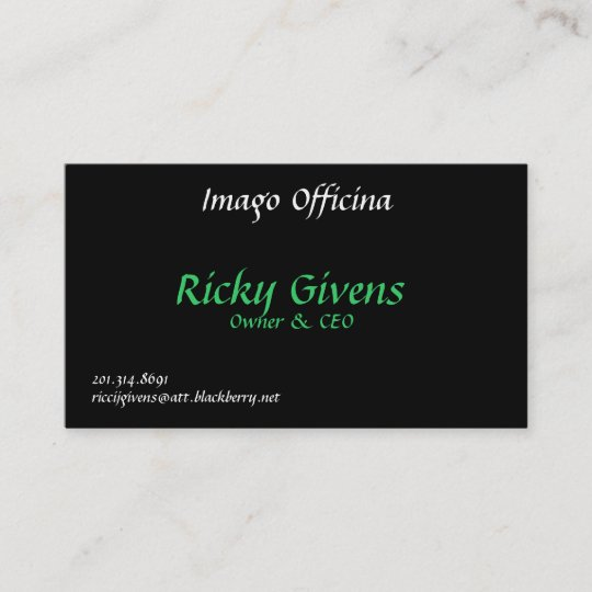 Imago Officina Ricky Givens Owner Ceo 201 Business Card