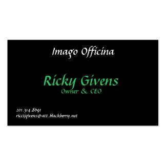 Imago Officina, Ricky Givens, Owner & CEO, 201.... Pack Of Standard Business Cards