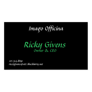 Imago Officina, Ricky Givens, Owner & CEO, 201.... Pack Of Standard Business Cards