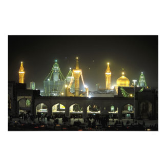 Imam Reza Shrine Complex at night, Mashhad, Photo