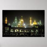 Imam Reza Shrine Complex at night, Mashhad, Poster
