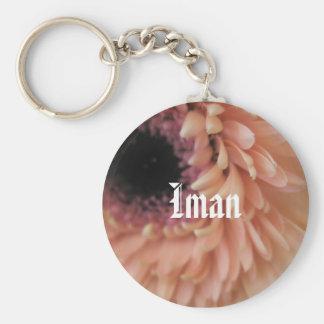Iman Basic Round Button Key Ring