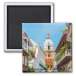 Imán, Cartagena de Indias, Colombia Square Magnet
