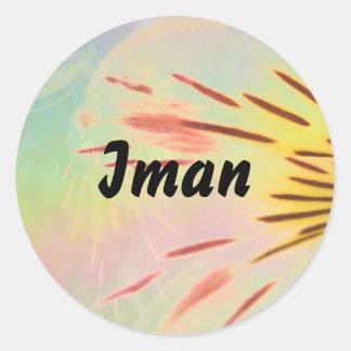 Iman Round Sticker