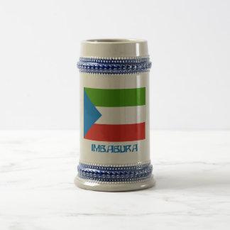 Imbabura flag with Name Coffee Mugs