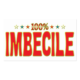 Imbecile Star Tag Pack Of Standard Business Cards