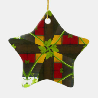 Imbolc 1 ceramic star decoration