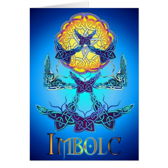 Imbolc Butterflies Blank Greeting Card