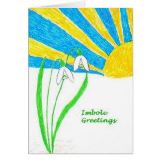 Imbolc Greetings Card (small)
