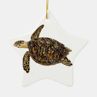 Imbricata turtle christmas ornament