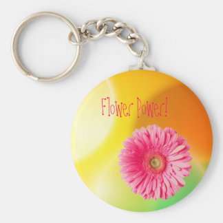 img26, gerber daisy, Flower Power! Key Ring