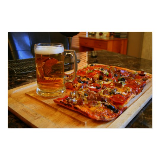 IMG_0012 Pizza And Beer Poster