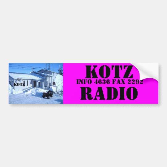 IMG_0319, KOTZ RADIO BUMPER STICKER