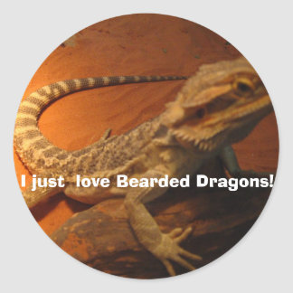 IMG_4705, I just  love Bearded Dragons! Round Sticker