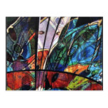 IMG_6877 stained glass-like  abstract by Othon Postcard