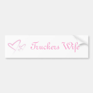 img-thing, Truckers Wife Bumper Sticker