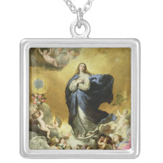 Immaculate Conception, 1635 Silver Plated Necklace
