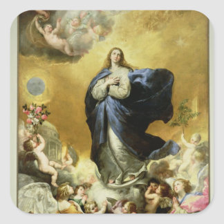 Immaculate Conception, 1635 Square Sticker