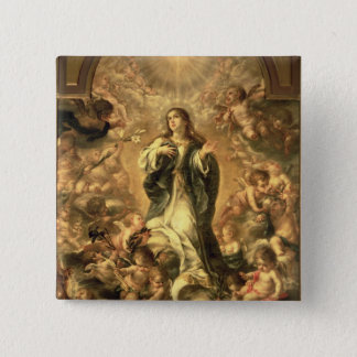 Immaculate Conception, 1670-1672 15 Cm Square Badge