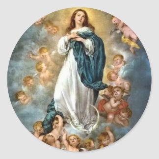 Immaculate Conception of Mary Round Sticker