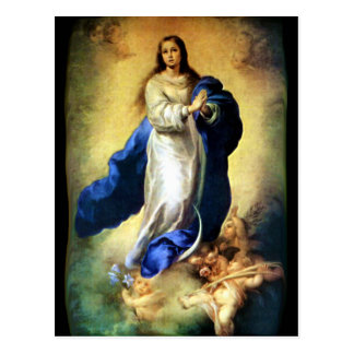 Immaculate Conception of Virgin Mary - Murillo Postcard