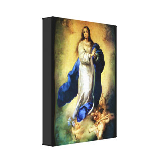 Immaculate Conception of Virgin Mary - Murillo Stretched Canvas Print