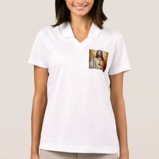 Immaculate heart of holy Jesus christ our lord,GOD Polo Shirt