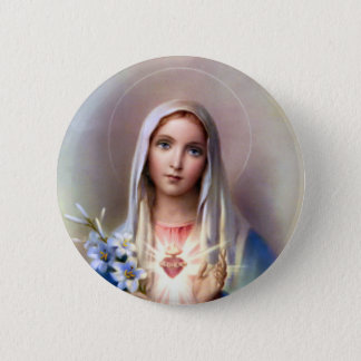Immaculate Heart of Mary 6 Cm Round Badge