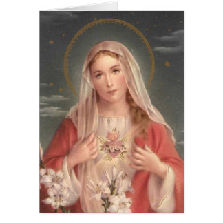 Immaculate Heart of Mary Cards