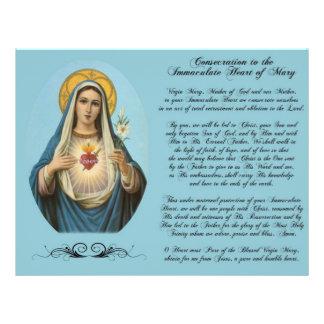 Immaculate Heart of Mary Custom Flyer
