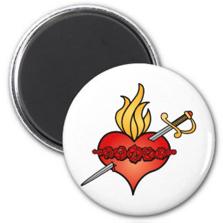 Immaculate Heart of Mary Icon Fridge Magnet