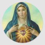 Immaculate Heart of Mary Round Sticker 1