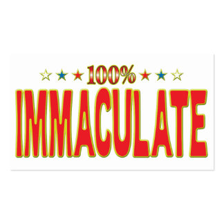 Immaculate Star Tag Business Card