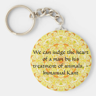 Immanual Kant Animal Rights  quote Basic Round Button Key Ring