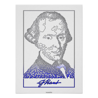 Immanuel Kant. Founder of German philosophy. [002] Poster