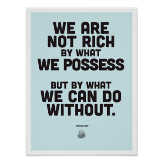 Immanuel Kant Inspirational Quote - Philosophy Pos Poster