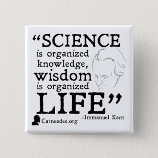 Immanuel Kant Square Button